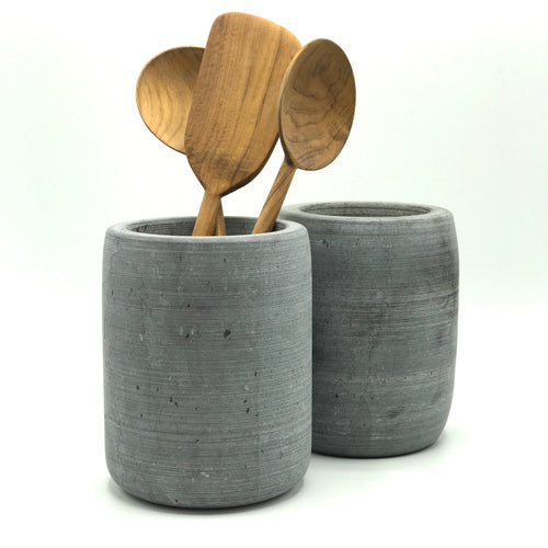 Raw Marble Utensil Holder - Bagel&Griff