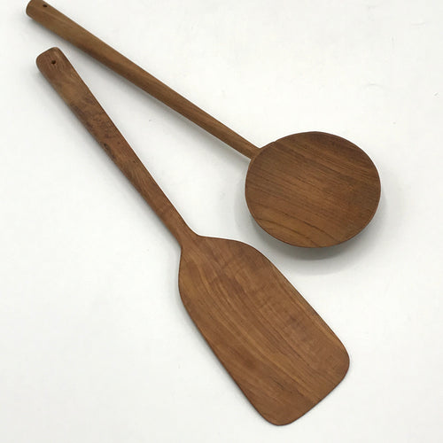 Acacia Wood Spatula & Serving Spoon - Bagel&Griff