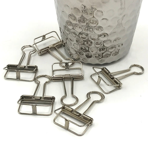 Silver Binder Clips - Bagel&Griff