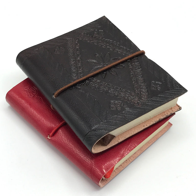 Small Embossed Leather Journals - Bagel&Griff