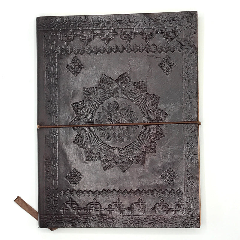 Large Embossed Leather Journal - Bagel&Griff
