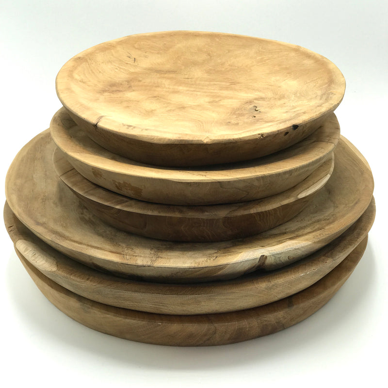 Chunky Teak Plates - Bagel&Griff