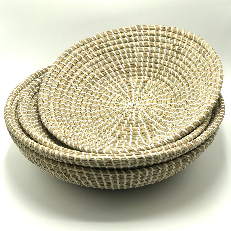 White Basket Bowls - Bagel&Griff