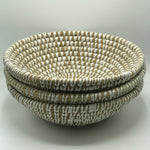 Large White Basket Bowls - Bagel&Griff