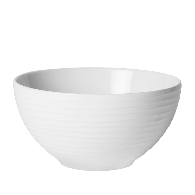 White Stripe Bowls