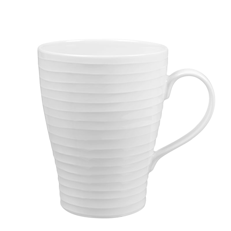 White Striped Mugs