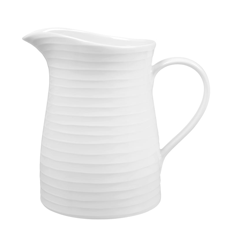 White Striped Jug