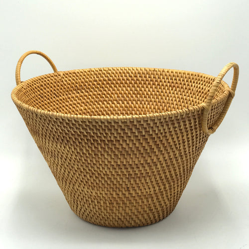 Rattan Handled Basket - Bagel&Griff