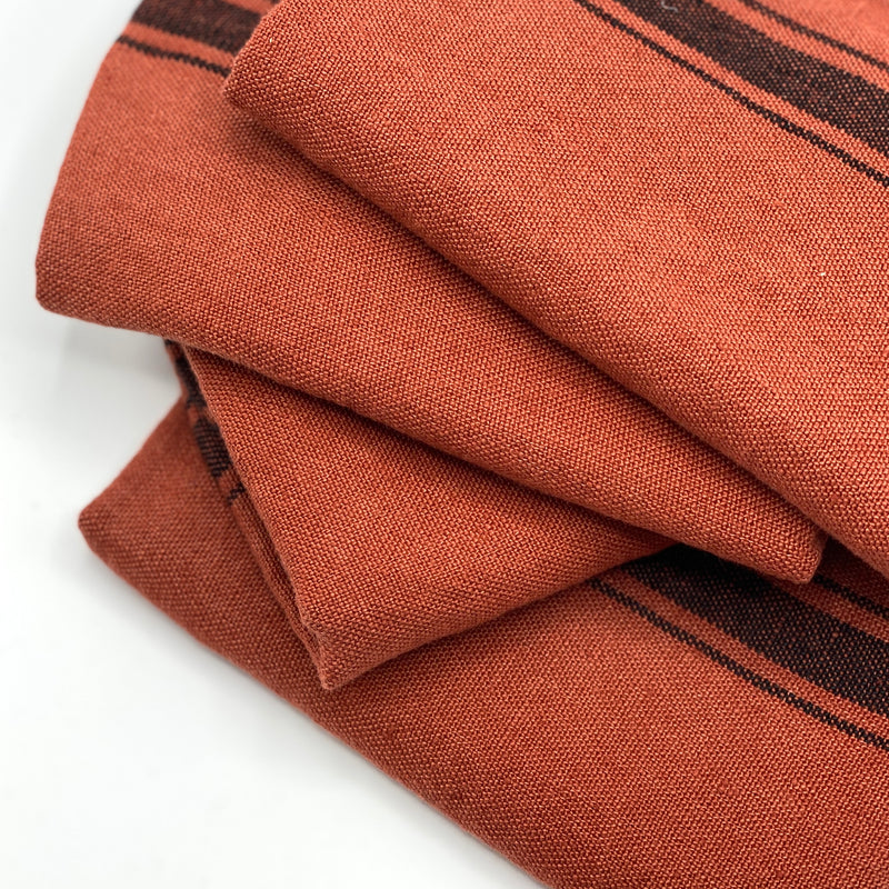 Rust Linen Tea Towel - Bagel&Griff