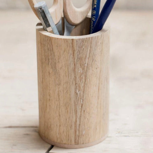 Mango Wood Pen Pot - Bagel&Griff