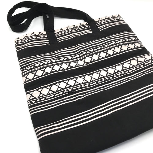 Black&White Cotton Shopper
