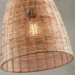 Conical Wicker Pendant - Bagel&Griff