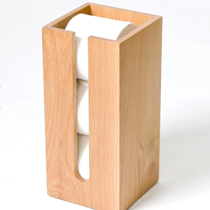Oak Loo Roll Holder
