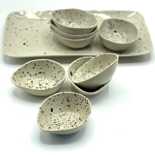 Speckled Dipping Bowls