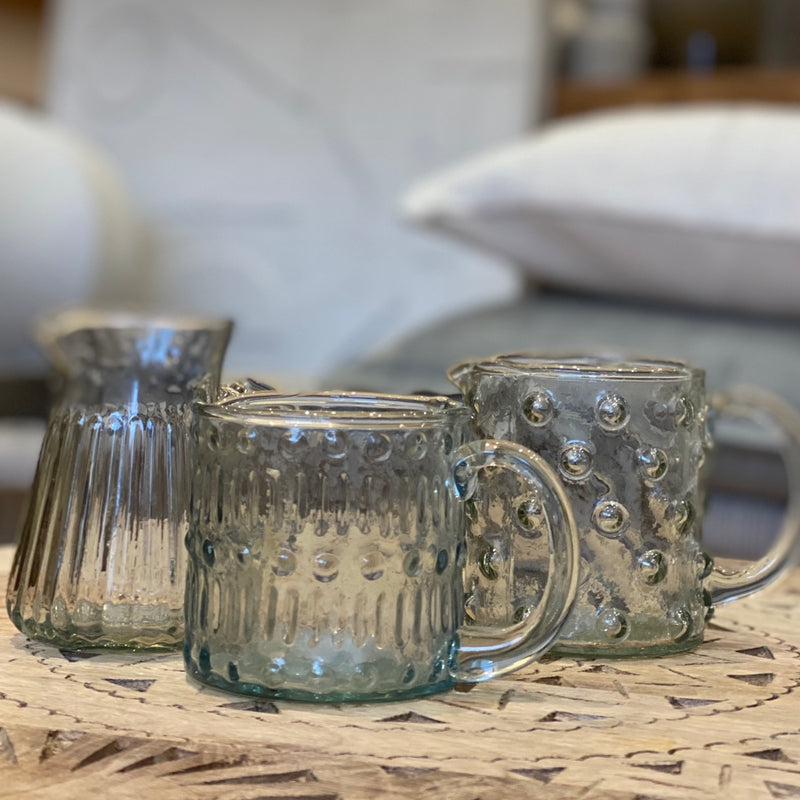 Grooved Glass Jug - Bagel&Griff
