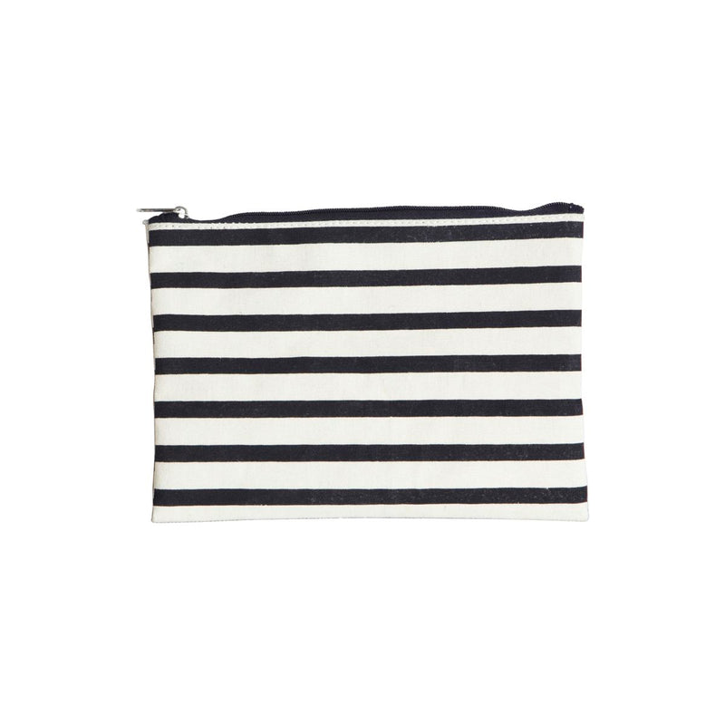 Striped Makeup Bag - Bagel&Griff