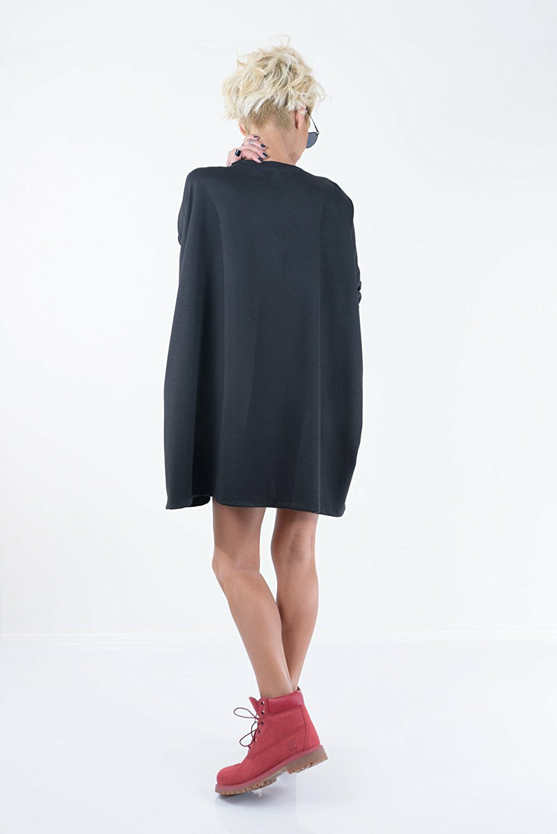 Black Maxi Loose Tunic Dress - Clothes By Locker Room