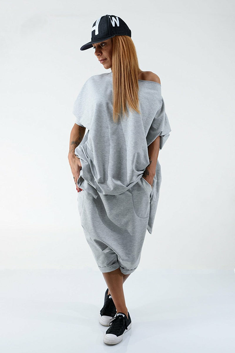 Grey Loose Tracksuit for Women - Clothes By Locker Room
