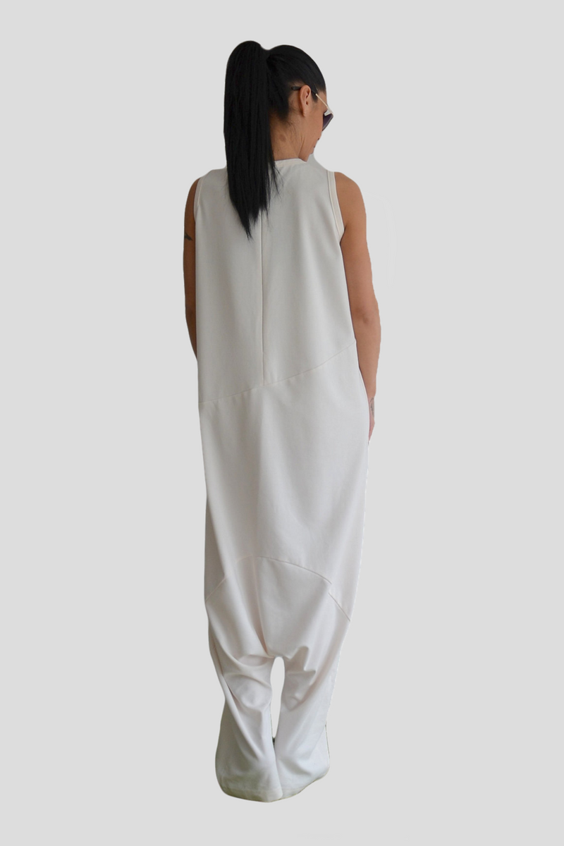 Maxi White Loose Jumpsuit - Clothes By Locker Room