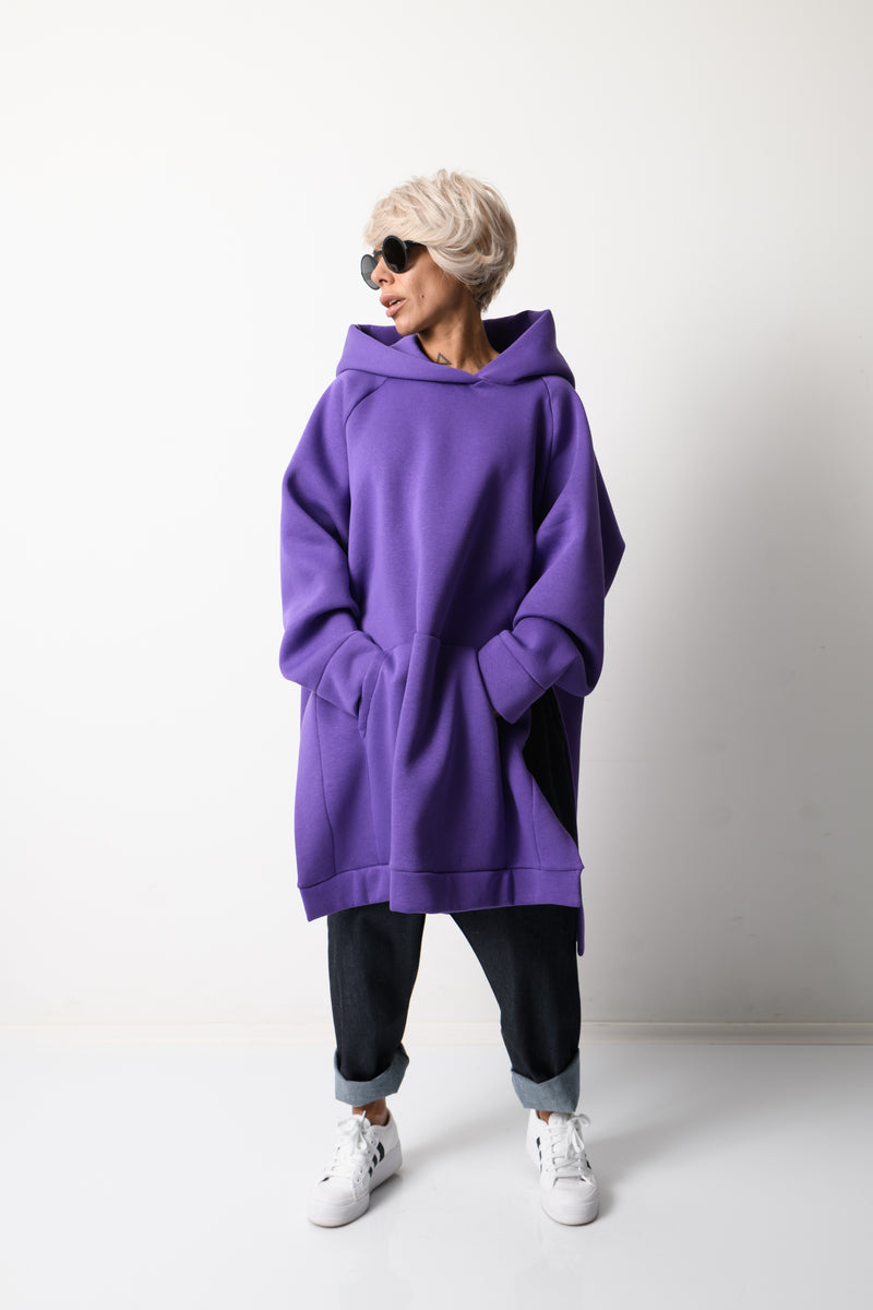 Purple Loose Oversized Hoodie