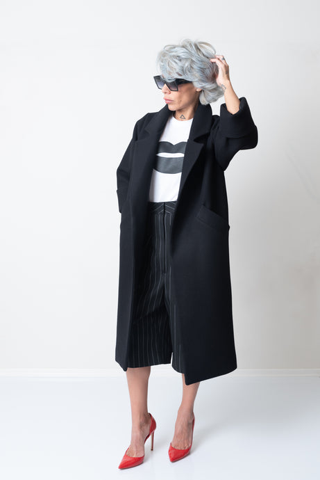 Winter Black Loose Warm Oversize Coat - Clothes By Locker Room
