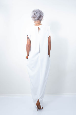 Maxi Loose Infinity White Wedding Dress - Clothes By Locker Room