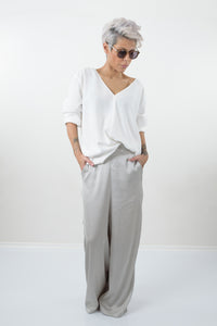 Loose Casual Grey Drop Crotch Extravagant Harem Palazzo Pants
