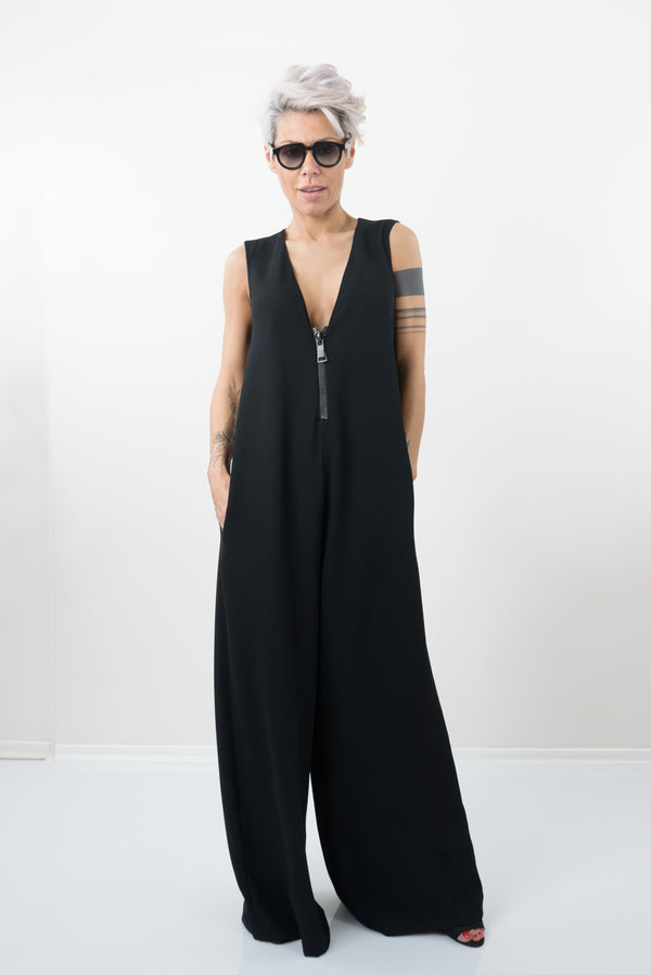 Black Harem Palazzo Jumpsuit - Clothes By Locker Room