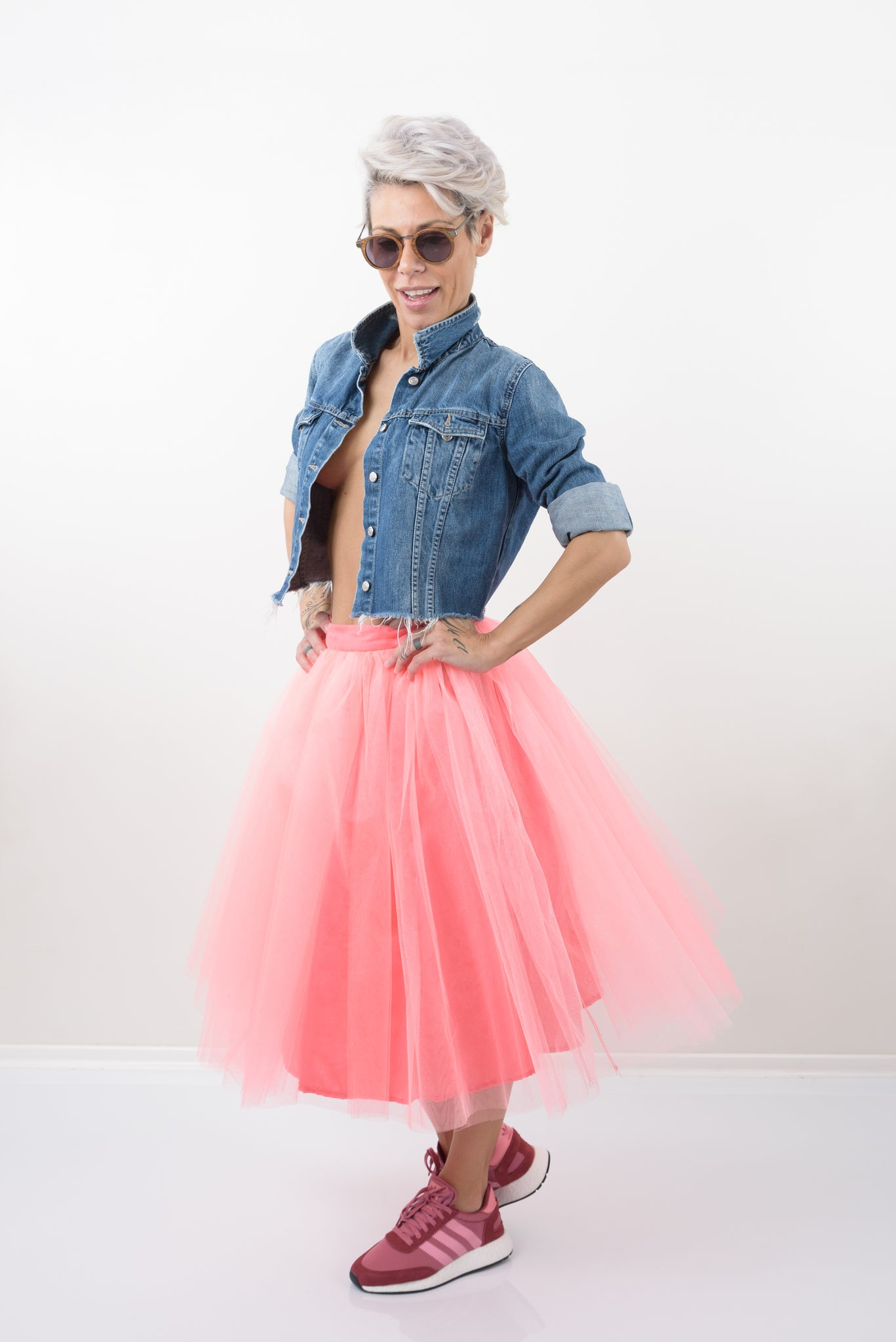Pink Tulle A - Line High Waist Skirt - Clothes By Locker Room