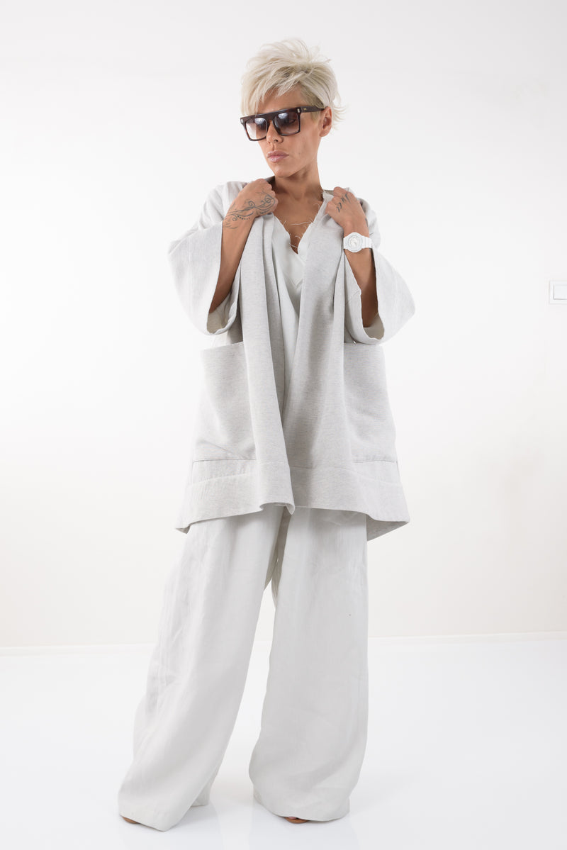 Women Linen Spring Summer Coat - Clothes By Locker Room