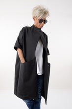 Women Black Cotton Spring Summer Coat