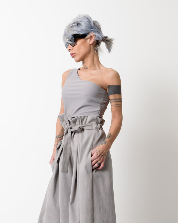 One Shoulder Strap Asymmetric Sexy Tank Top - Clothes By Locker Room