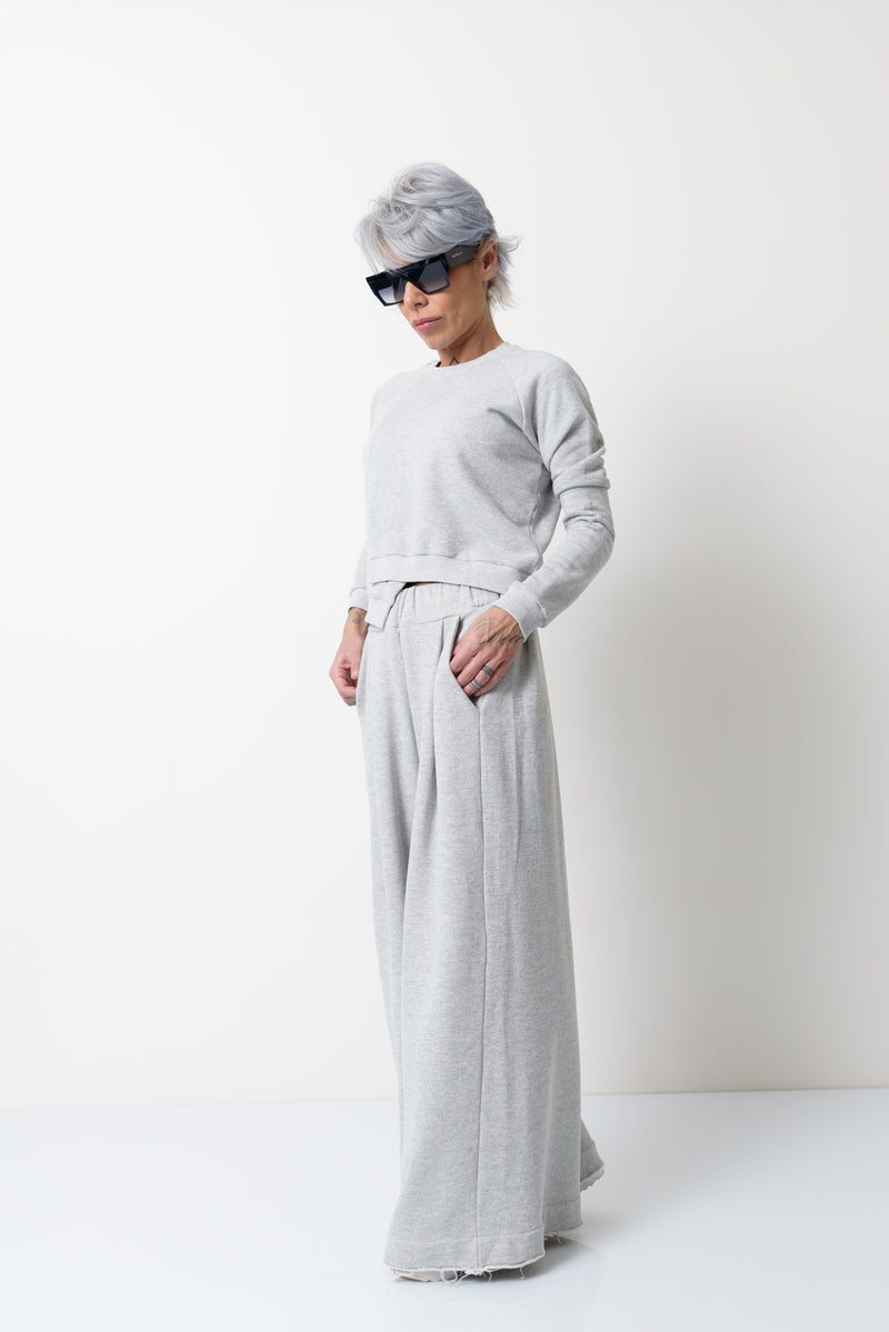 Grey Two Piece Tracksuit Set For Women - Clothes By Locker Room