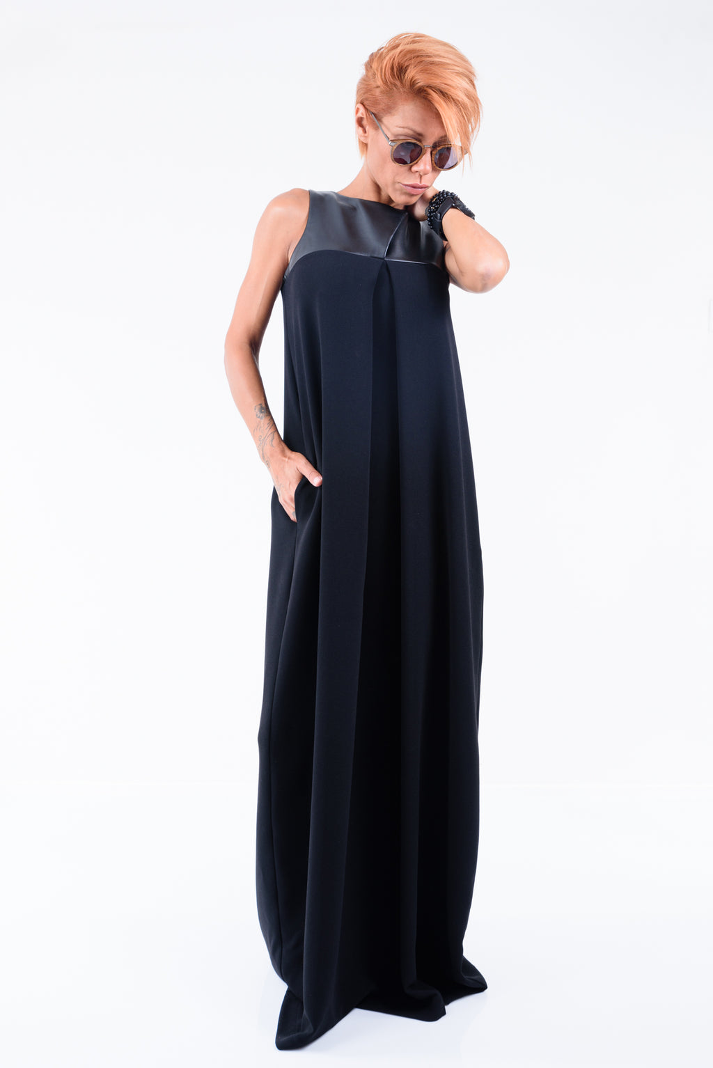 Infinity Kaftan Black Dress - Clothes By Locker Room