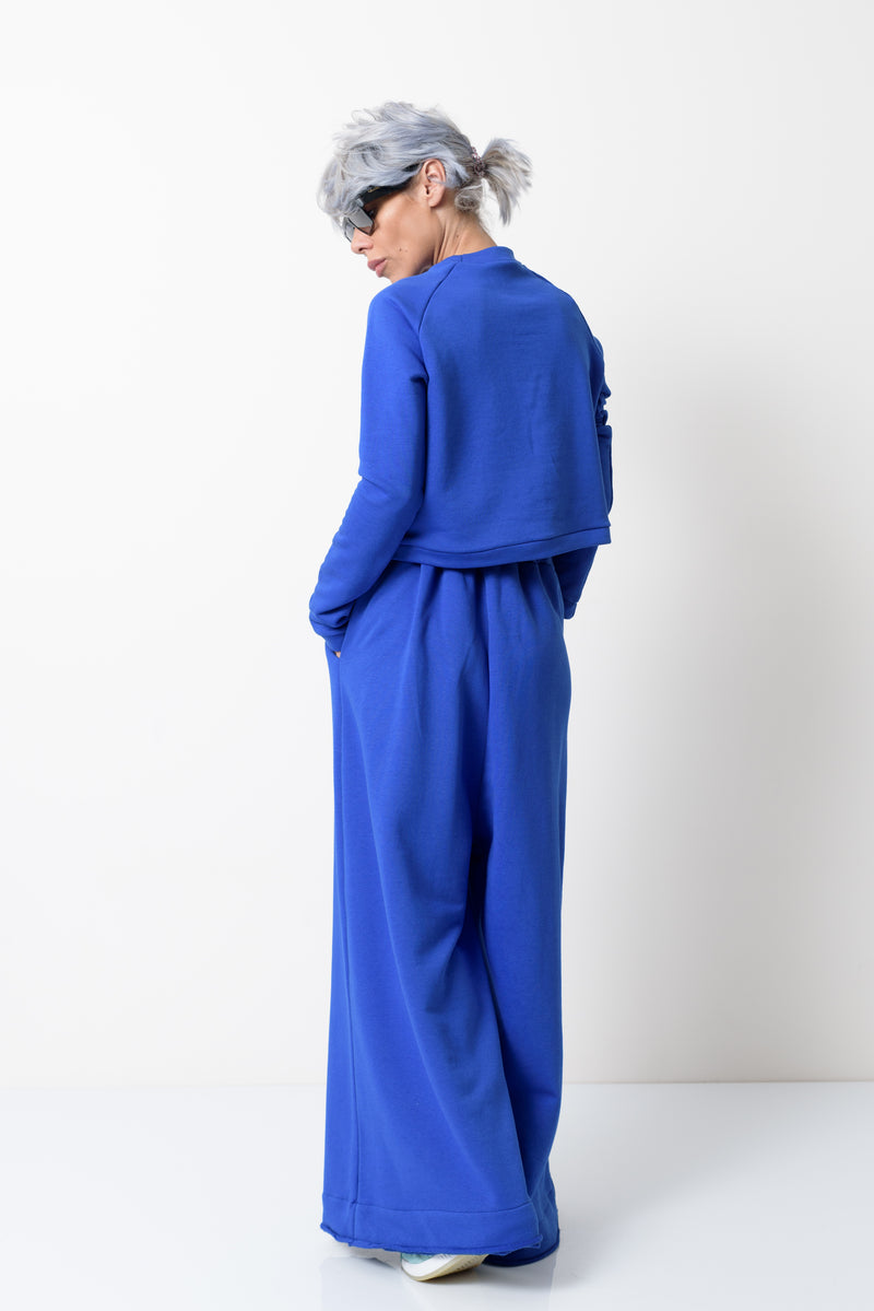 Royal Blue Two Piece Tracksuit Set For Women - Clothes By Locker Room