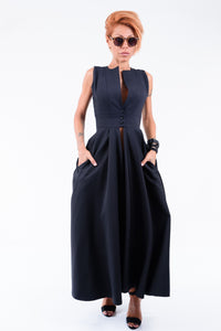 Extravagant Black Shirt Dress
