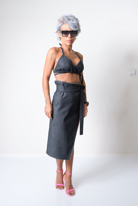 Two Piece Extravagant Denim Women Sexy Clothing Set - Clothes By Locker Room