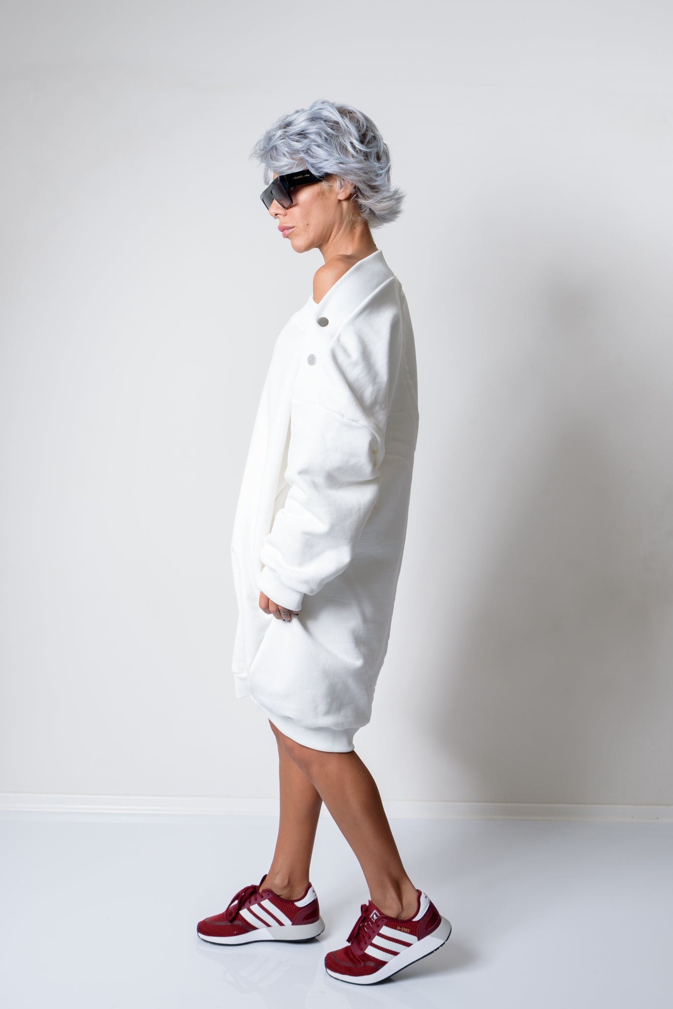 White Oversized Loose Sweater - Clothes By Locker Room