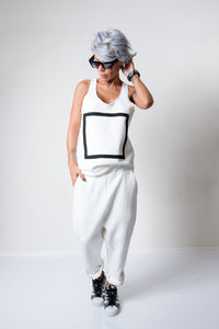 White Two Parts Track Suit For Women - Clothes By Locker Room