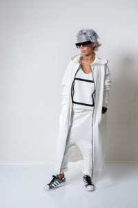 White Long Oversized Asymmetric Warm Hoodie - Clothes By Locker Room