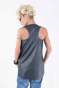 Leatherette Loose Top - Clothes By Locker Room