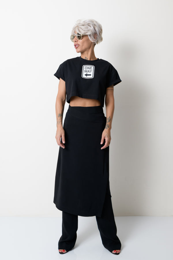 Black Summer Crop Top for Women - Clothes By Locker Room