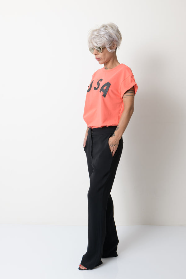 Women Mid Waist Black Pants - Clothes By Locker Room