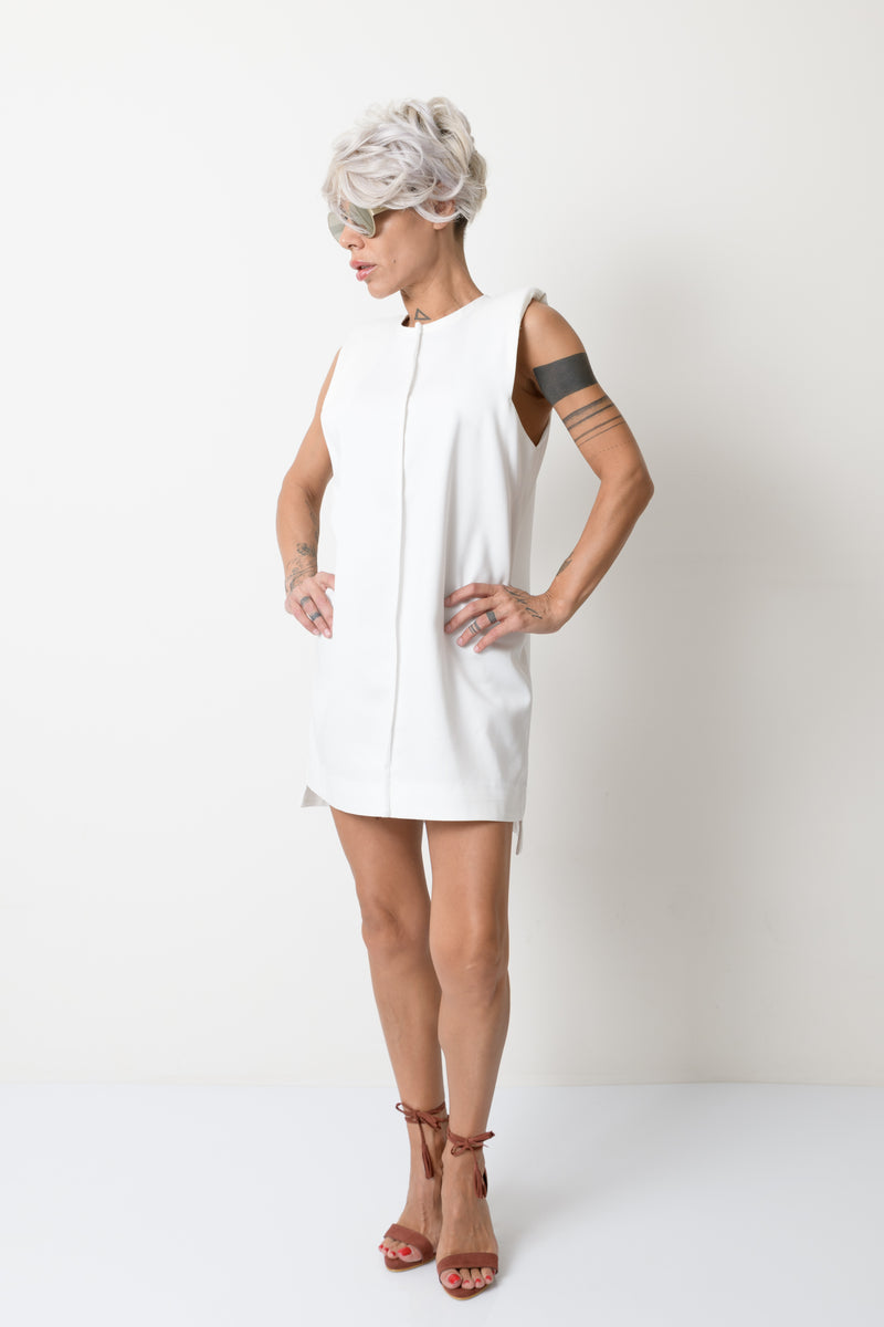 White Loose Summer Women Dress - Clothes By Locker Room