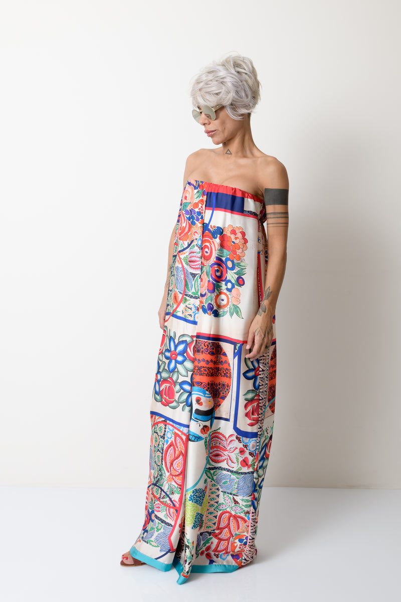Printed Summer Bustier Jumpsuit for Women - Clothes By Locker Room