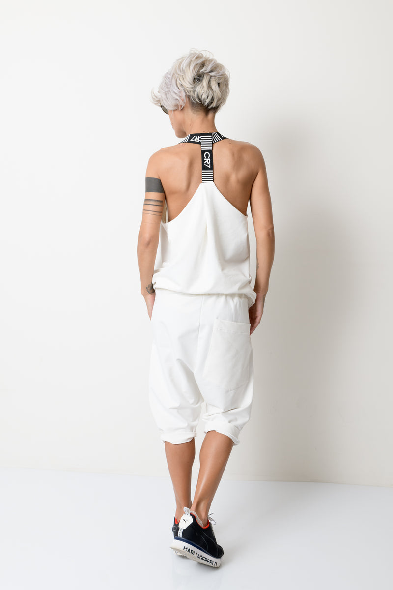 White Two Piece Summer Tracksuit For Women - Clothes By Locker Room
