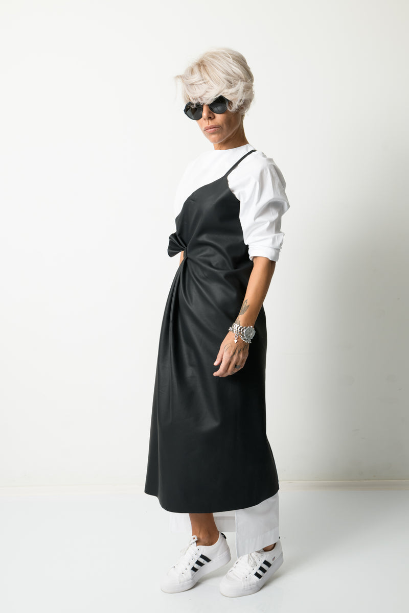 Leatherette Extravagant Two Pieces Dress