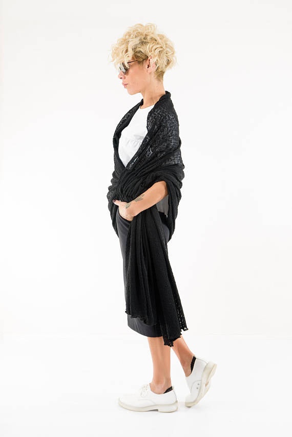 Knitted Maxi overall Winter Scarf - Clothes By Locker Room