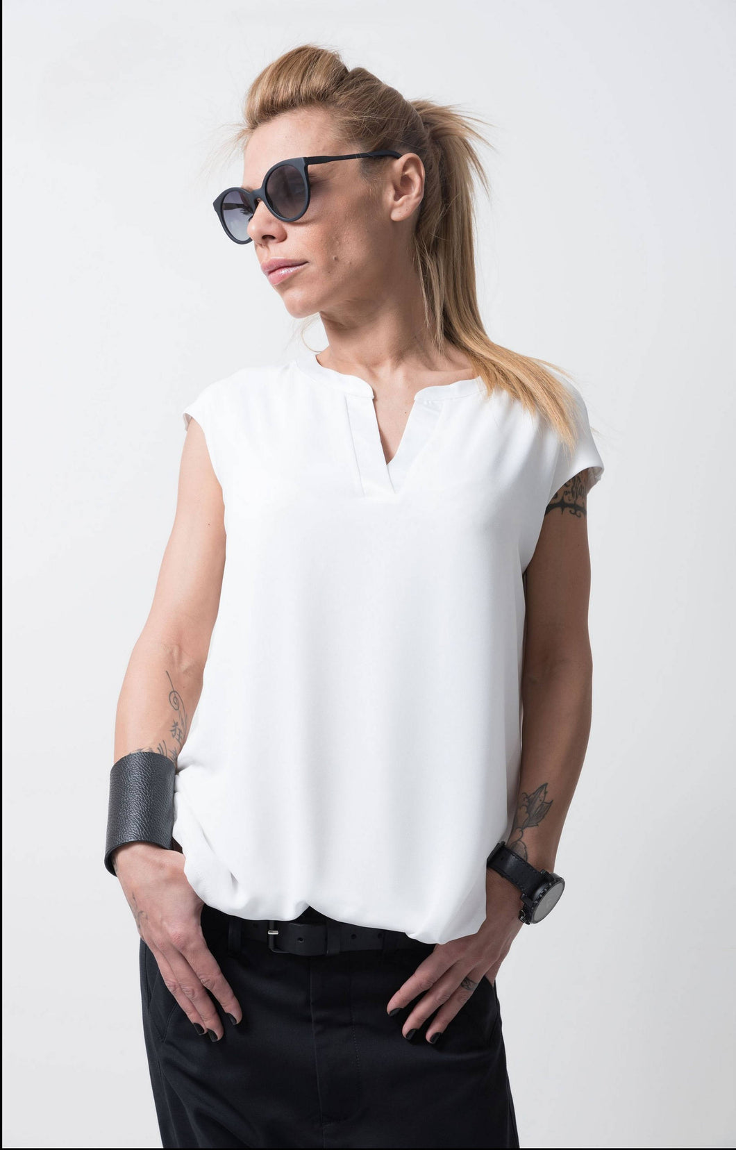 White Loose Top