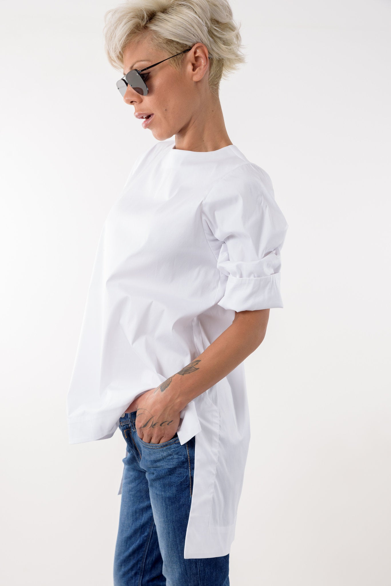 Snow White Cotton Summer Shirt Top Blouse - Clothes By Locker Room